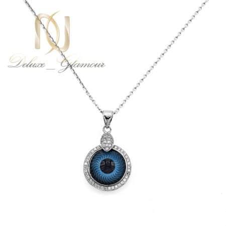 گردنبند چشم نقره زنانه خاص nw-n758 از نمای سفید