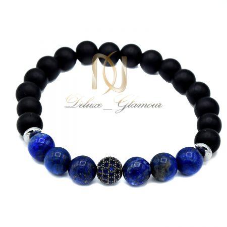 دستبند دخترانه سنگ اونیکس و عقیق za-447