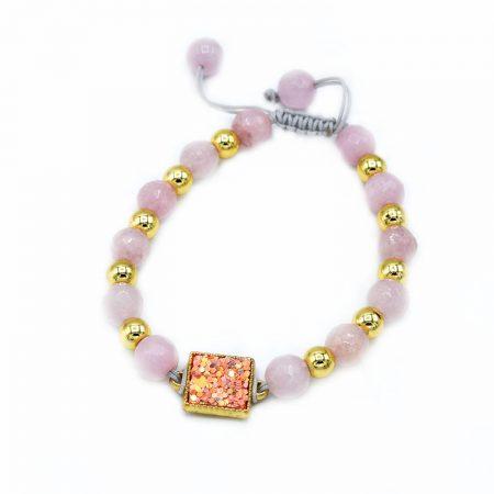 دستبند دخترانه سنگ عقیق za-n453