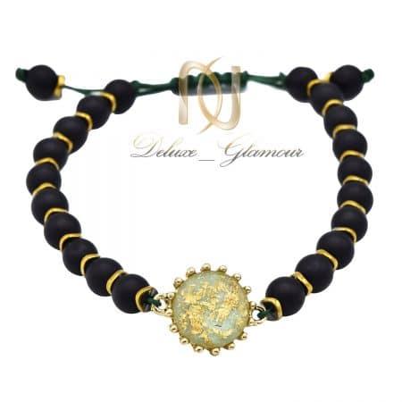 دستبند پسرانه سنگی مهره اپال za-n454