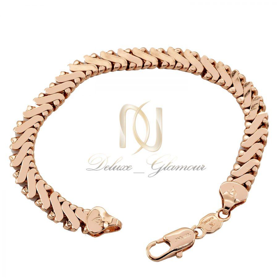 دستبند ژوپینگ رزگلد زنانه شیک ds-n686 از نمای سفید