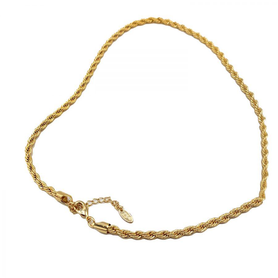 زنجیر زنانه استیل طرح طلای ماری NW-N777