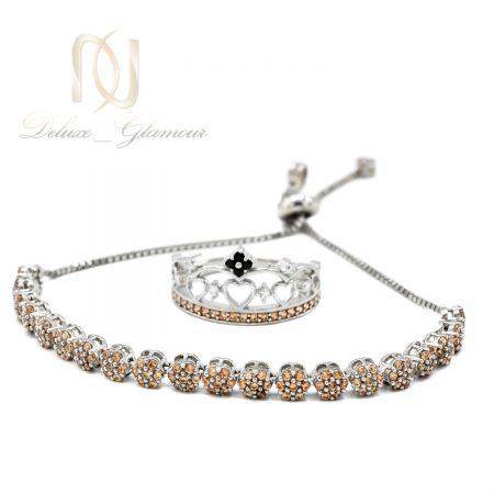 ست دستبند و انگشتر نقره دخترانه ns-n710