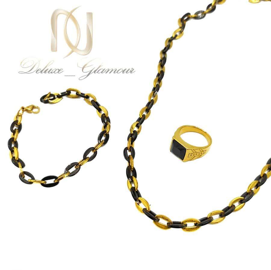 ست دستبند و گردنبند و انگشتر مردانه ns-n721