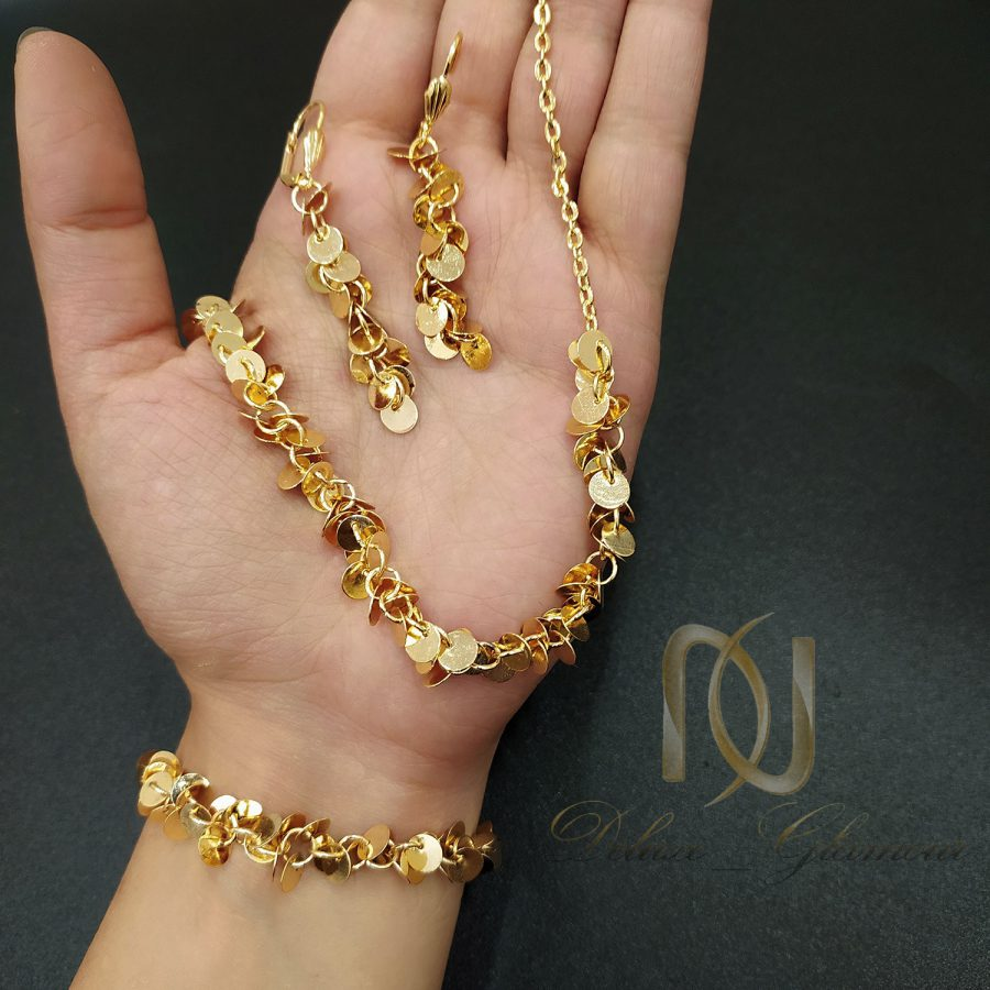 سرویس زیورآلات برنجی زنانه طرح طلا ns-n715