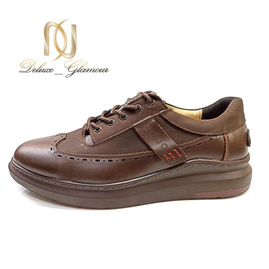 کفش مردانه چرم قهوه ای جدید sh-n167