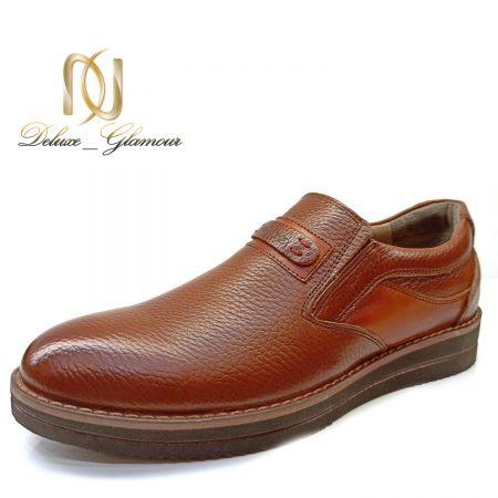 کفش مردانه چرم قهوه ای جدید sh-n173