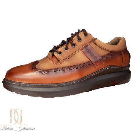 کفش مردانه چرم قهوه ای طرح جدید sh-n162