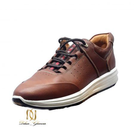 کفش چرم مردانه قهوه ای جدید sh-n166