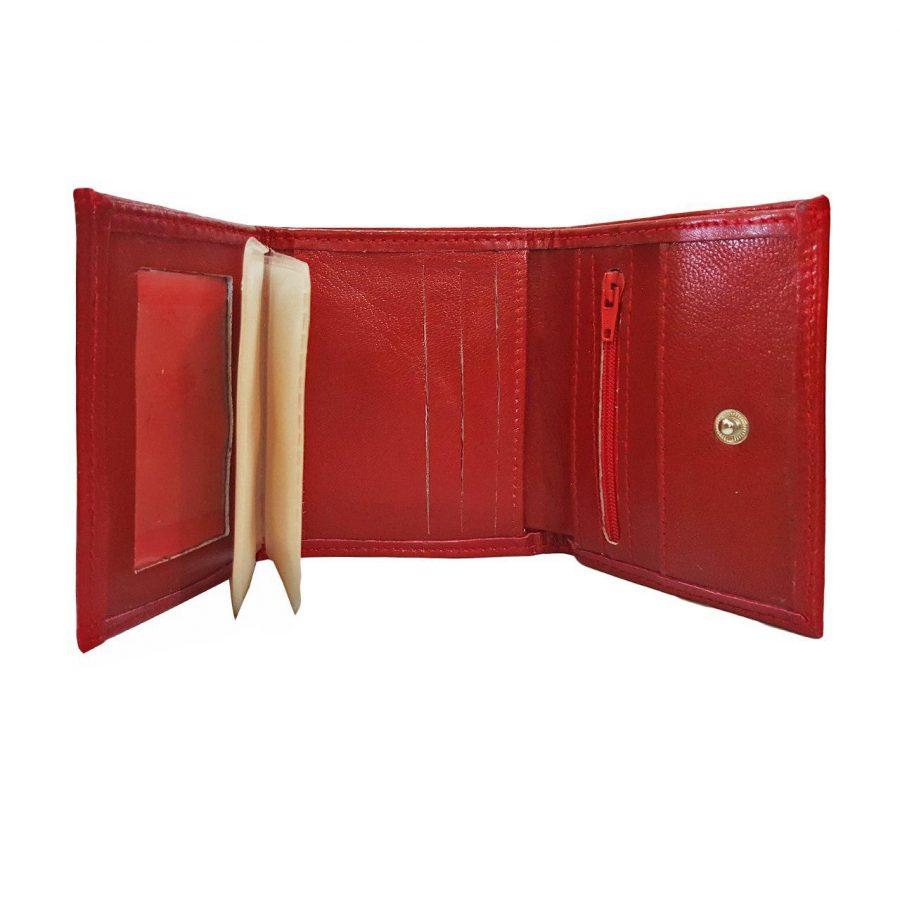 کیف پول چرم طبیعی جیبی le-n102