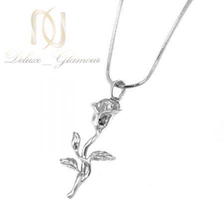 گردنبند طرح گل ژوپینگ زنانه نقره ای nw-n773