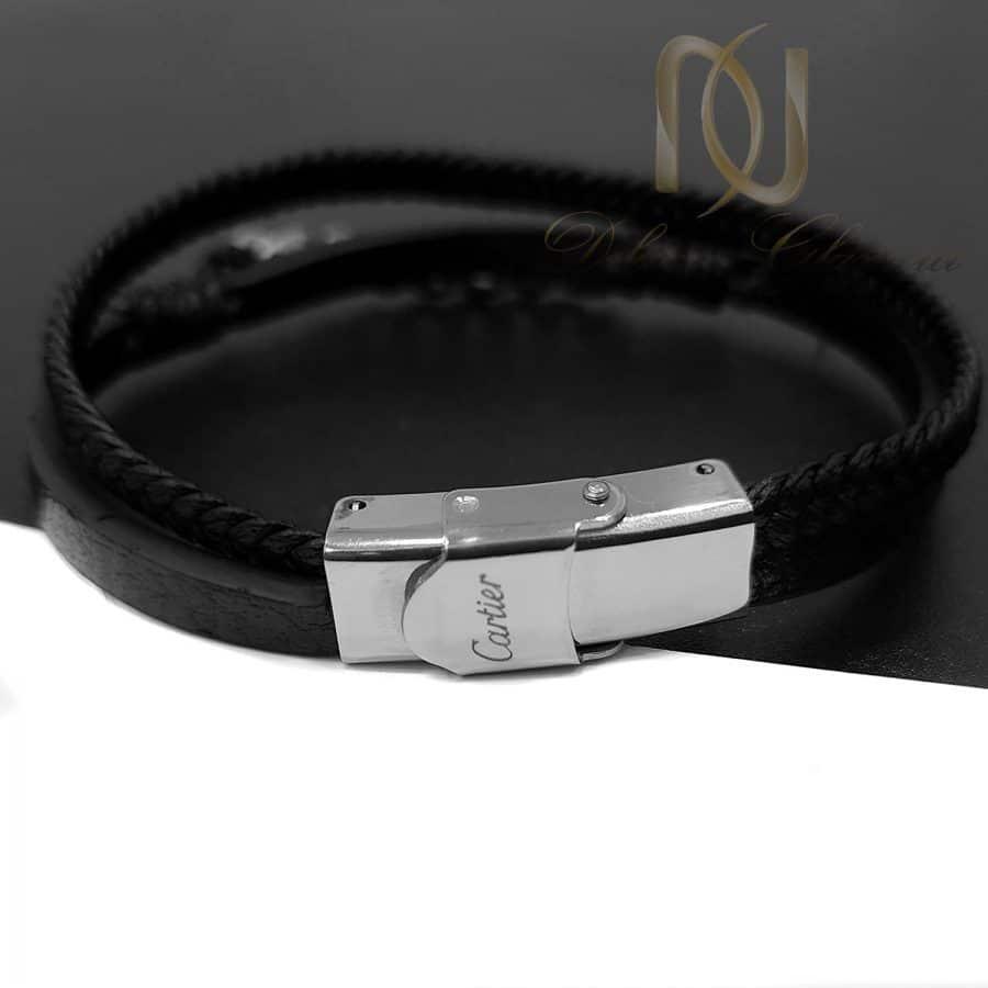دستبند چرم اسپرت طرح کارتیه ds-n688