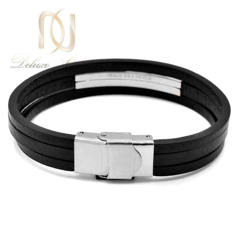 دستبند مردانه چرم HERMES سه ردیفه DS-N712