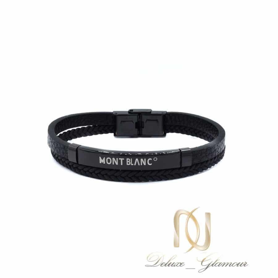 دستبند مونت بلانک مشکی مردانه ds-n703