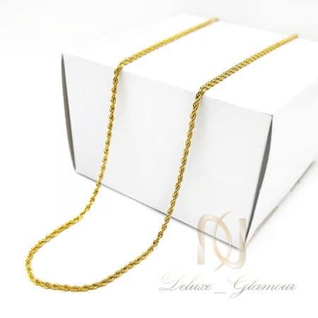 زنجیر مردانه بلند استیل طلایی nw-n788