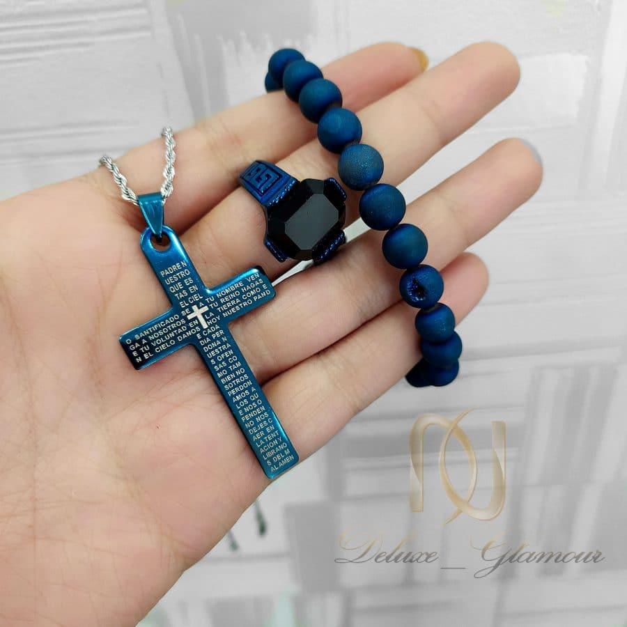 ست دستبند، انگشتر و گردنبند مردانه ns n734 2   ست دستبند، انگشتر و گردنبند مردانه ns-n734