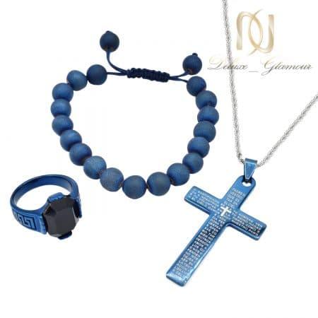 ست دستبند، انگشتر و گردنبند مردانه ns-n734