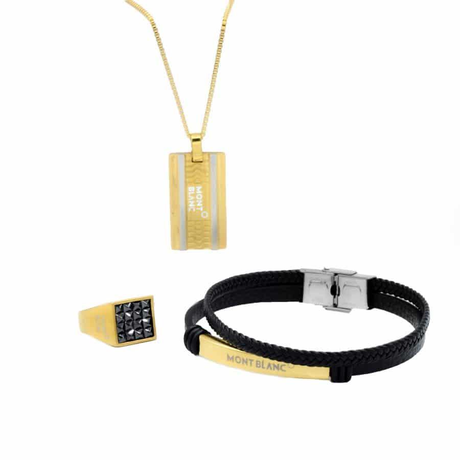 ست دستبند، گردنبند و انگشتر مونت بلانک ns-n726