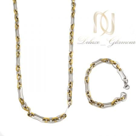 ست دستبند و گردنبند مردانه استیل ns-n735