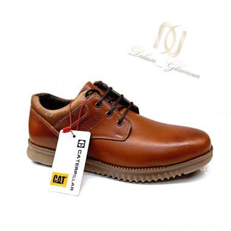 کفش مردانه چرم طرح کاترپیلار sh-n179