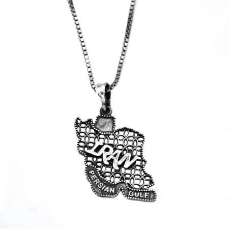 گردنبند نماد ایران نقره 925 اسپرت nw-n795