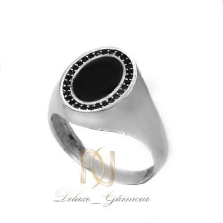 انگشتر نقره مردانه طرح طلا سفید اسپرت rg-n579