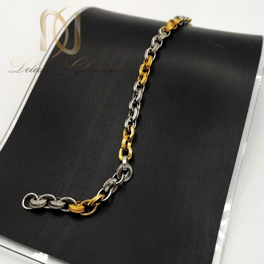 دستبند استیل پسرانه طرح طلا ds n717 2   دستبند استیل پسرانه طرح طلا ds-n717