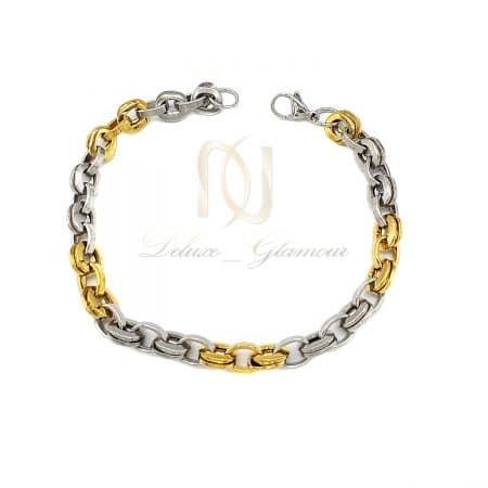 دستبند استیل پسرانه طرح طلا ds-n717