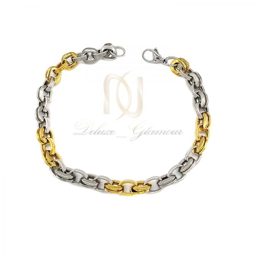 دستبند استیل پسرانه طرح طلا ds n717   دستبند استیل پسرانه طرح طلا ds-n717