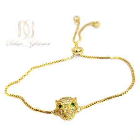 دستبند دخترانه خاص استیل طلایی ds-n467