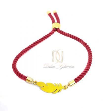 دستبند دخترانه طرح پر دست ساز za-n469