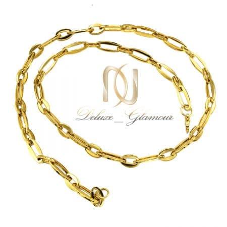 زنجیر مردانه استیل 55 سانتی طرح طلا nw-n808