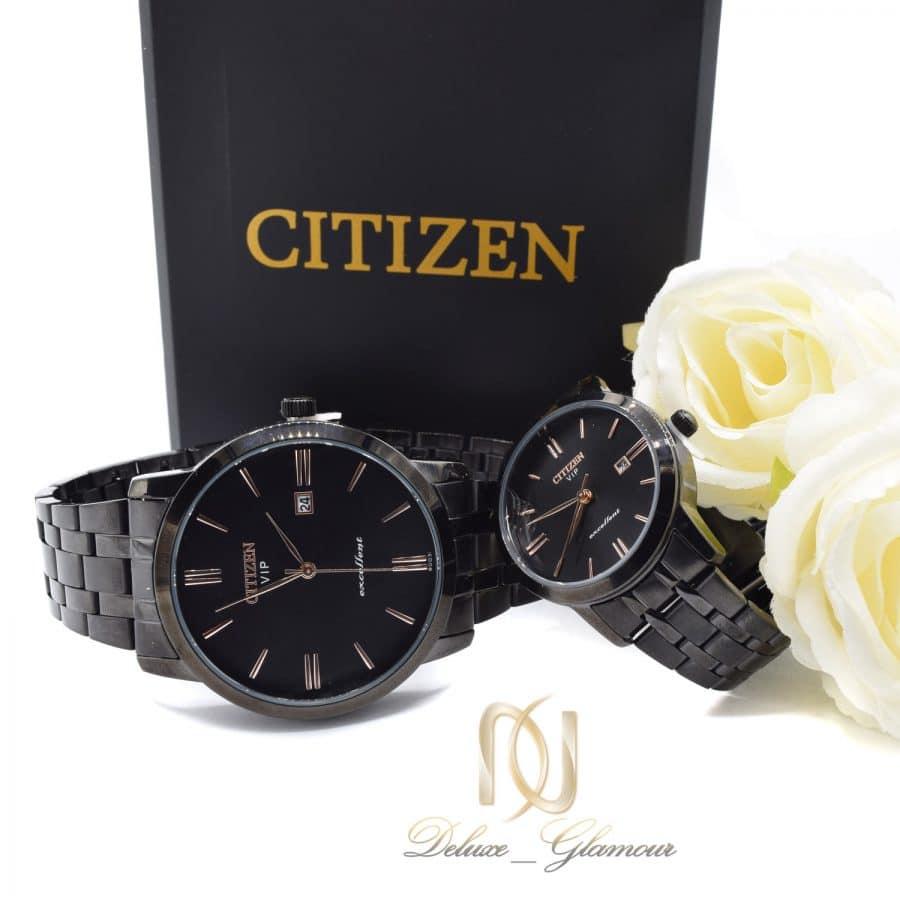 ساعت ست citizen مشکی استیل wh n211 3 | ساعت ست citizen مشکی استیل wh-n211