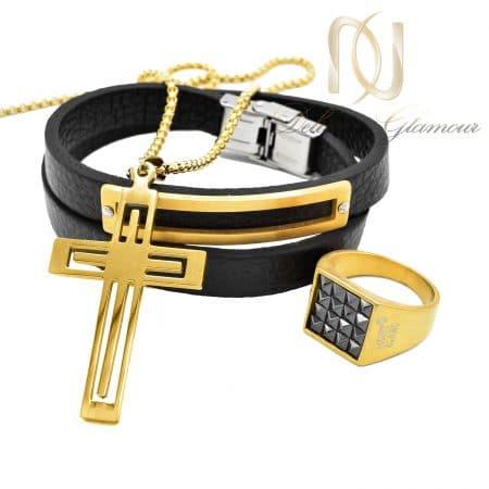 ست دستبند، انگشتر و گردنبند مردانه ns-n663