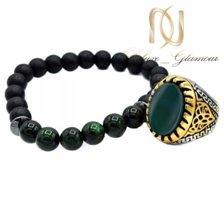 ست دستبند و انگشتر مردانه ارزان قیمت ns-n660