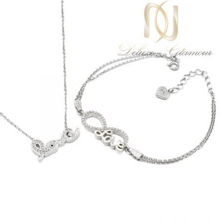 ست دستبند و گردنبند طرح لاو دخترانه ns-n653