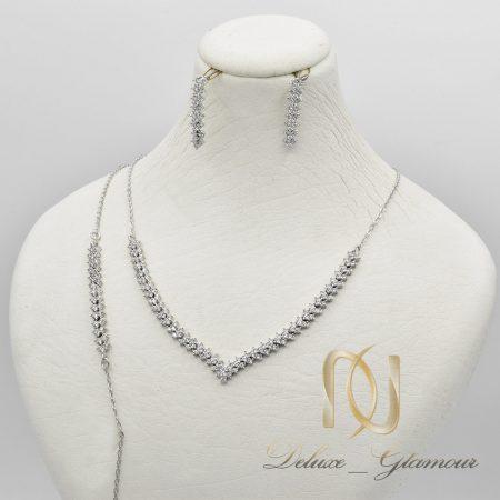 سرویس نقره ظریف طرح طلا سفید ns-n658