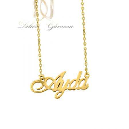 گردنبند اسم آیدا لاتین استیل طلایی nw-n809