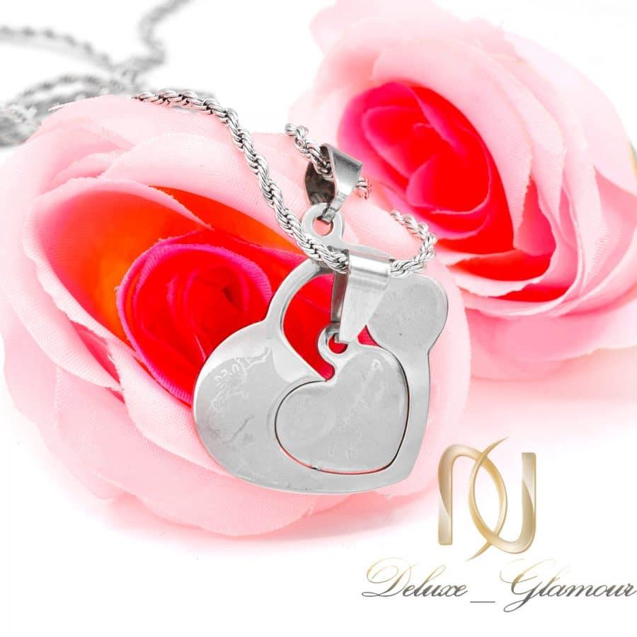 گردنبند ست پازلی استیل طرح قلب nw n806 2 | گردنبند ست پازلی استیل طرح قلب nw-n806