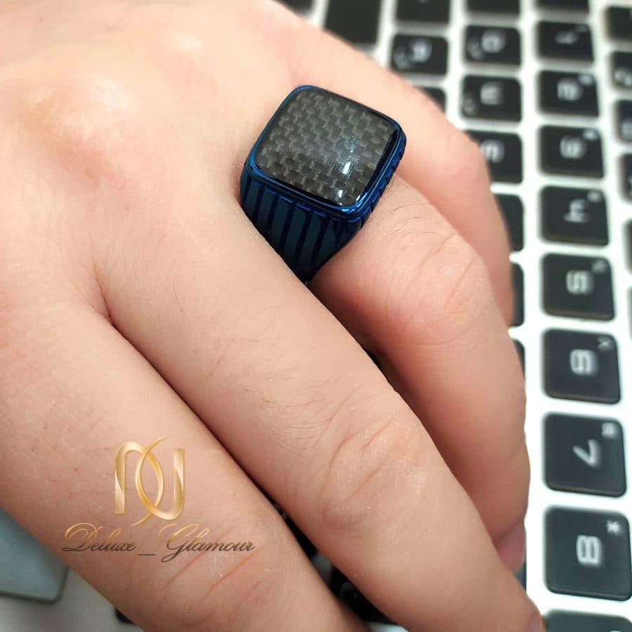 انگشتر مردانه اسپرت آبی استیل rg-n600