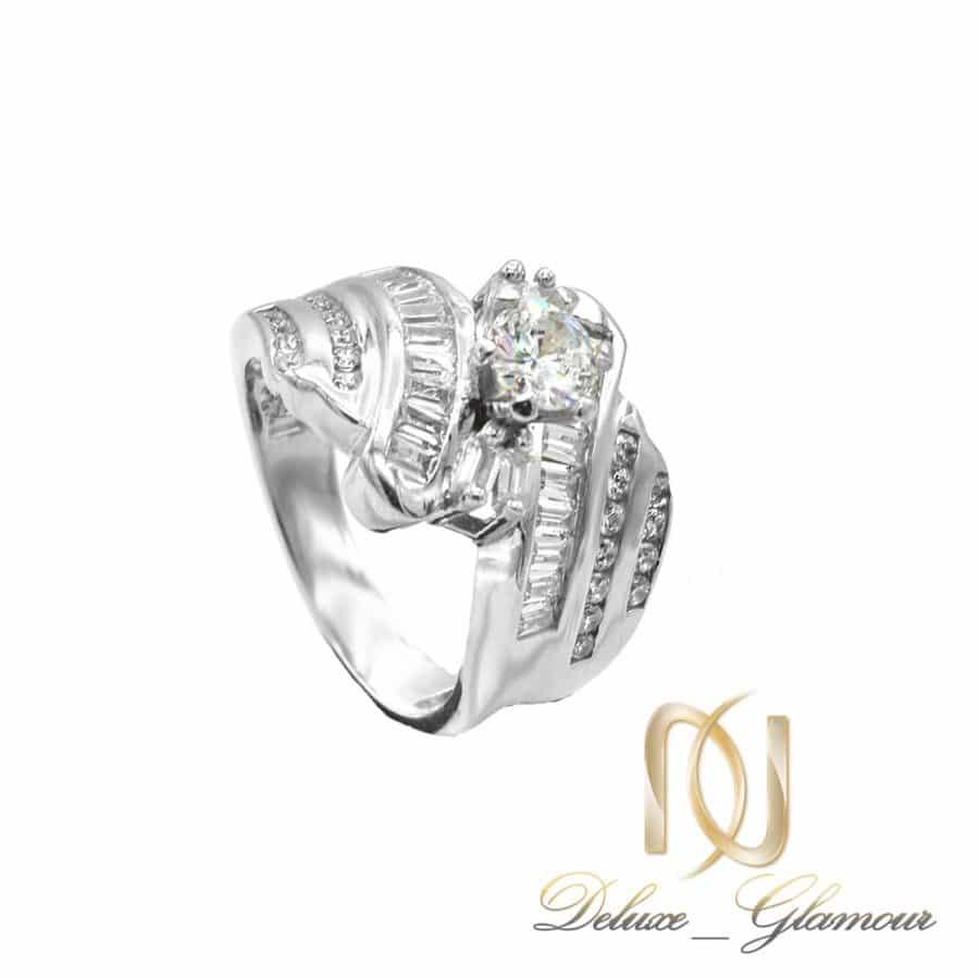 انگشتر نقره زنانه نگین باگت طرح طلا rg-n595