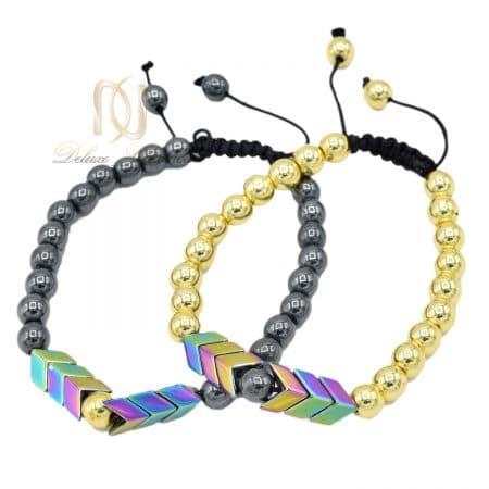 دستبند ست سنگ حدید فانتزی عاشقانه za-n472