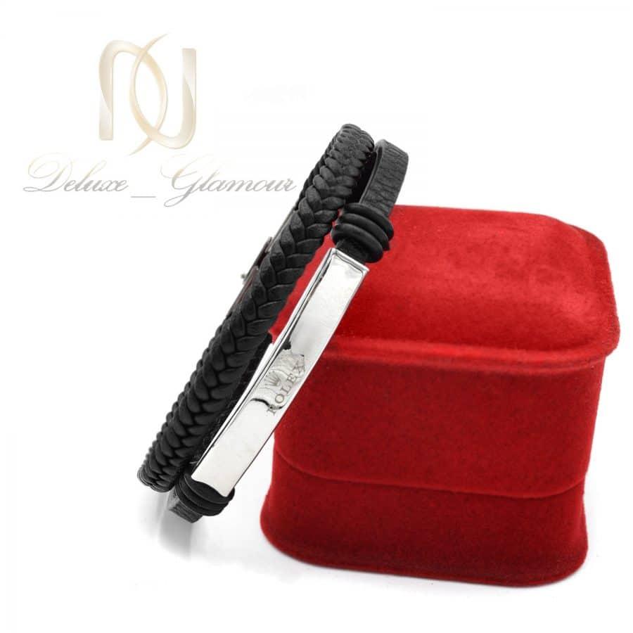دستبند مردانه چرمی ROLEX اسپرت DS N737 2 | دستبند مردانه چرمی ROLEX اسپرت DS-N737