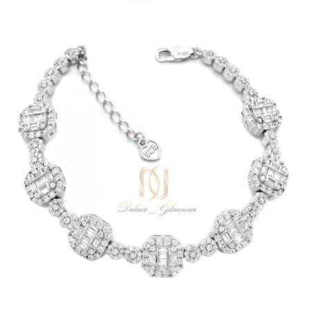 دستبند نقره زنانه جواهری جدید ds-n735