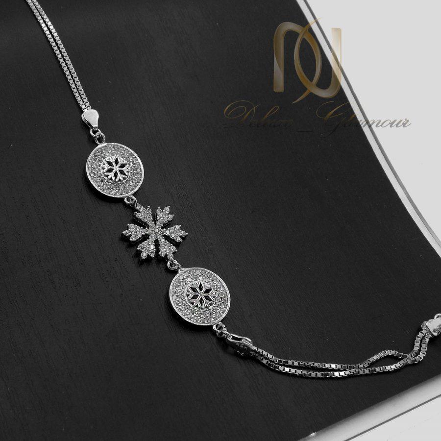 دستبند نقره زنانه طرح برف خاص ds-n739
