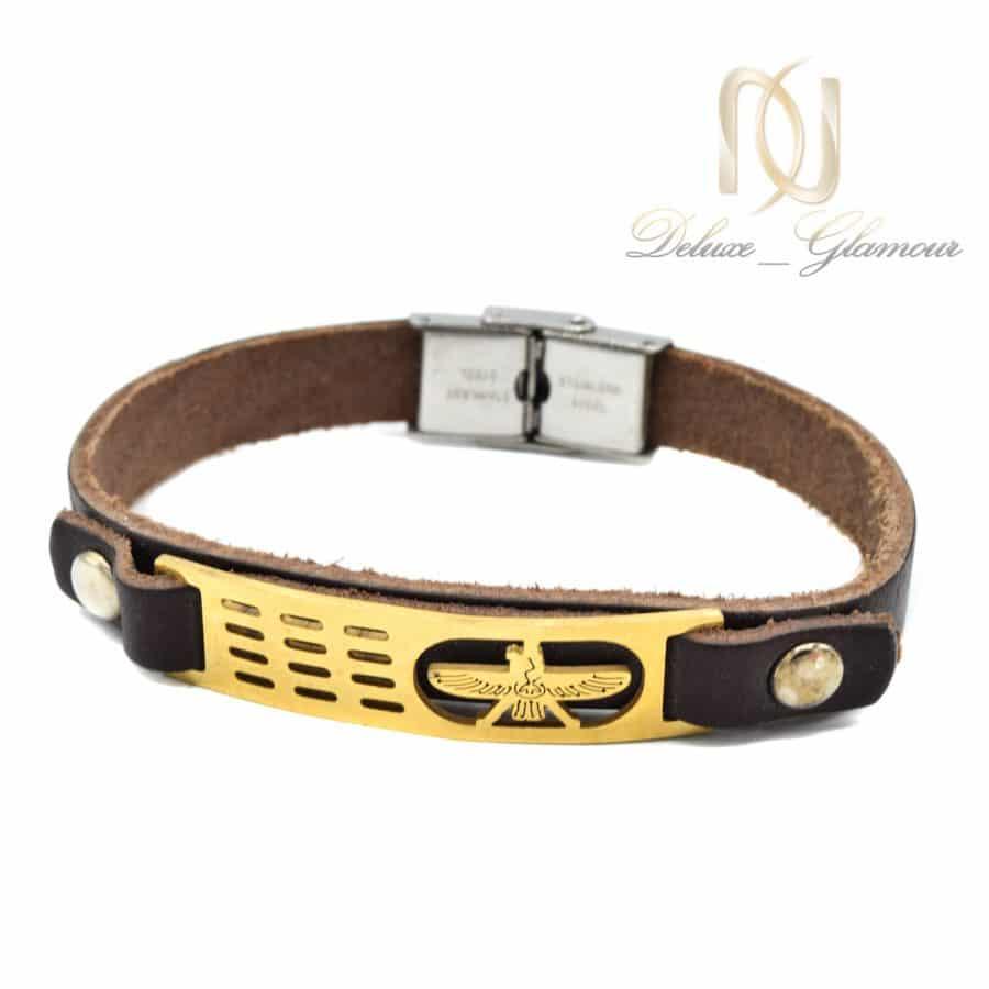 دستبند چرم طرح فروهر اسپرت DS N732   دستبند چرم طرح فروهر اسپرت DS-N732