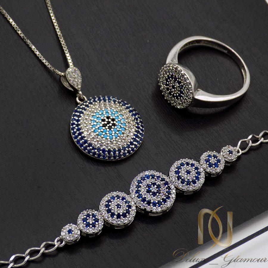 ست دستبند، انگشتر و گردنبند نقره خاص NS-N672