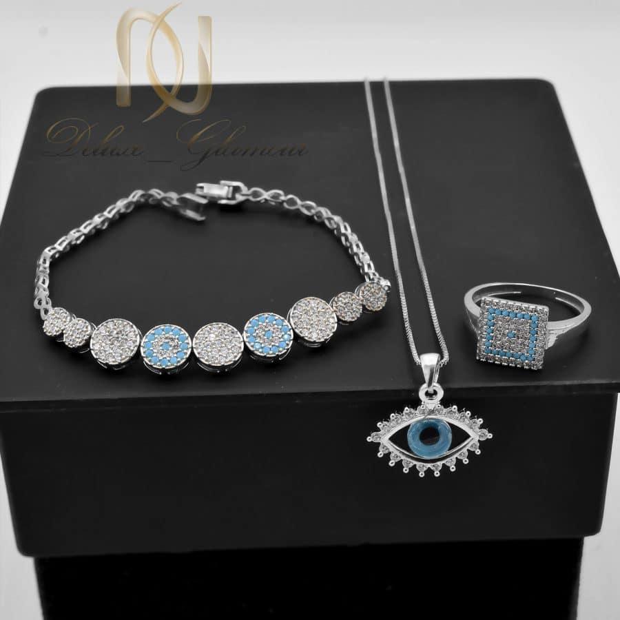 ست دستبند، انگشتر و گردنبند نقره دخترانه NS-N669