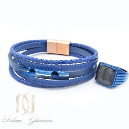 ست دستبند و انگشتر مردانه خاص ns-n675
