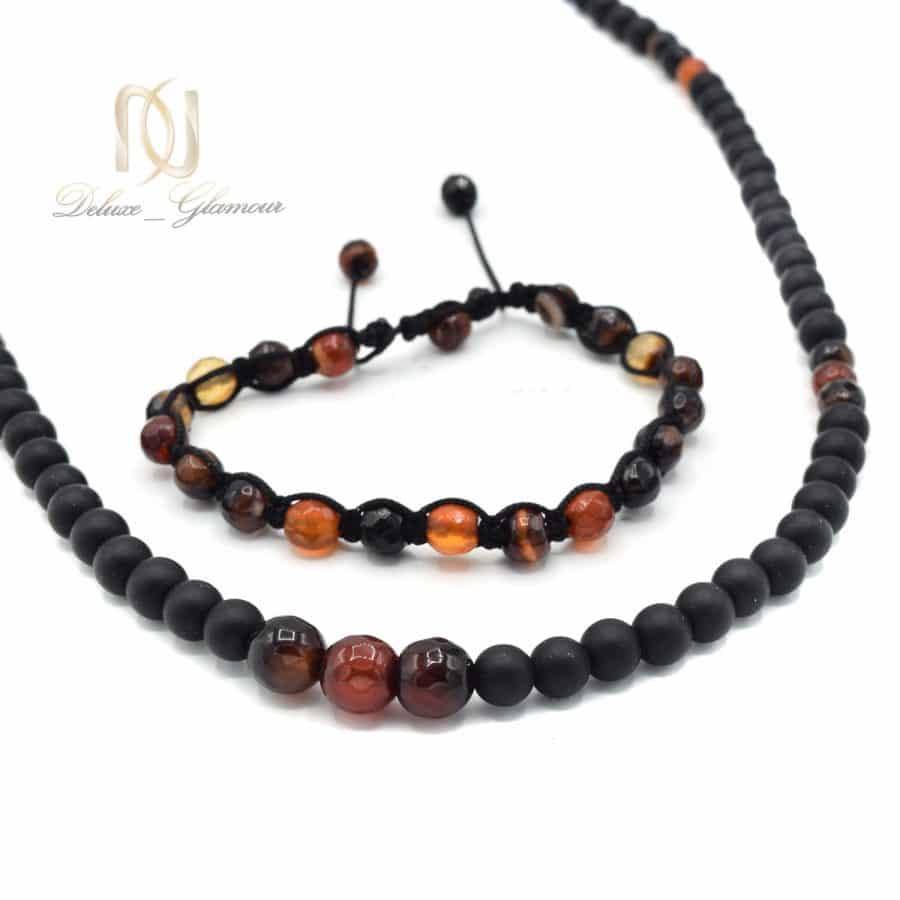 ست دستبند و گردنبند سنگی مردانه za n476 2 | ست دستبند و گردنبند سنگی مردانه za-n476